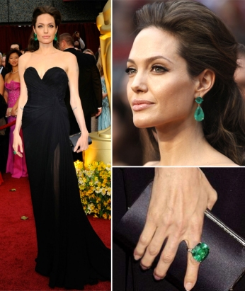 Angelina_Jolie_Emerald_Lorraine_Schwartz_Earrings_Ring_Trend_Black_Elie_Saab_Designer_Jewelry_Kendra_Scott_Gown
