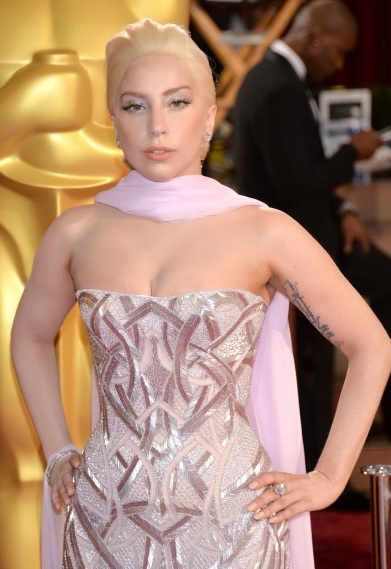 Lady Gaga at Oscars (close up)